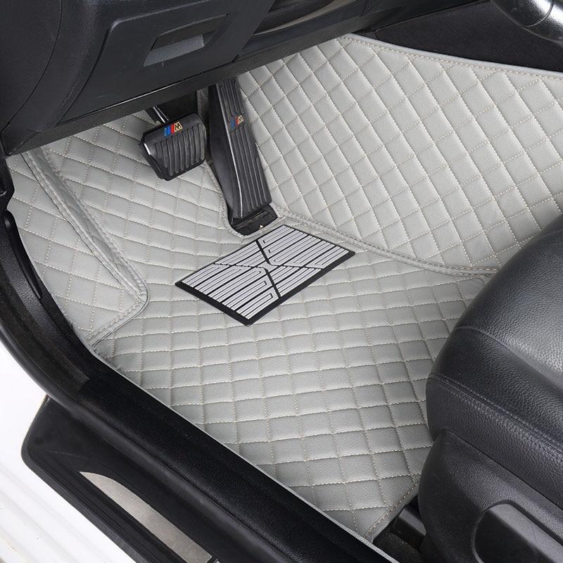 Coche personalizado alfombras de piso para BMW F10 F11 F15 F16 F20 F25 F30 F34 E60 E70 E90 1 3 4 5 7 serie GT X1 X3 X4 X5 X6 Z4 3D coche-estilo