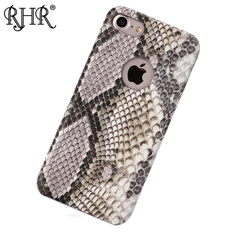 RHR кожаный чехол для телефона iPhone 6 6S 7 Мода змеиной кожи В виде ракушки противоударный тонкий Телефонные Чехлы для iPhone 6 6S X случае роскоши
