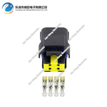 5 sets 4 pin Jacket Automotive Connectors Automotive Connectors With Terminal Plug DJ7045A-1.5-21 4P цена 2017