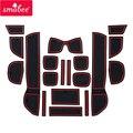 SAMBEE Anti Slip Tor Slot Matte Für Honda Fit Jazz 2008 ~ 2013 GE6 GE7 GE8/9 2009 2010 2011 2012 gummi Tasse Halter Zubehör auf
