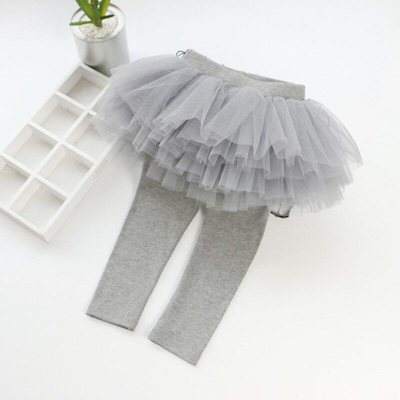 Детские леггинсы; леггинсы для девочек; юбка-пачка; брюки; юбка для малышей; леггинсы; детская одежда - Цвет: Серый