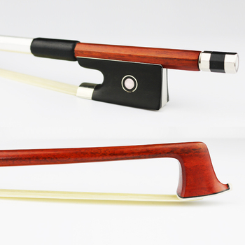 Free Shipping 4/4 Size Genuine Pernambuco Violin Bow Master Fast response Natural Horsehair Ebony Frog Violin Parts Accessories 202c 4 4 woven carbon fiber cello bow ebony frog with fleuron nickel silver fitted natural horsehair violin parts accessories