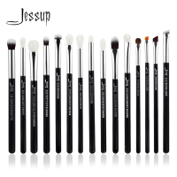 Jessup Brand Black Silver Professional Makeup Brushes Set Make Up Brush Tools Kit Eye Liner Shader