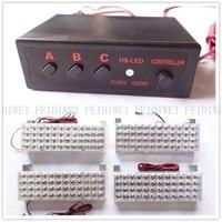 03002 DC 12 V 4X48 4*48 96 LED Strobe Flash Warning EMS Car Lampeggiante Vigili Del Fuoco Giallo Bianco Blu Giallo Rosso 192LED