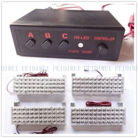 03002 DC 12V 4X48 4*48 96 LED Strobe Flash Warning EMS Car Light Flashing Firemen Yellow White Blue Amber Red 192LED