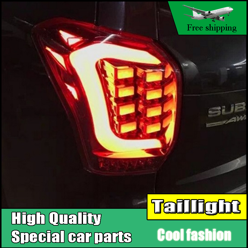 Car Styling Tail Lamp For Subaru Forester 2013 2014 2015 Taillights Full LED Tail Light Rear Lamp DRL+Brake+Park+Signal car styling tail light case for suzuki swift taillights 2005 2014 led tail lamp rear lamp drl brake park signal light