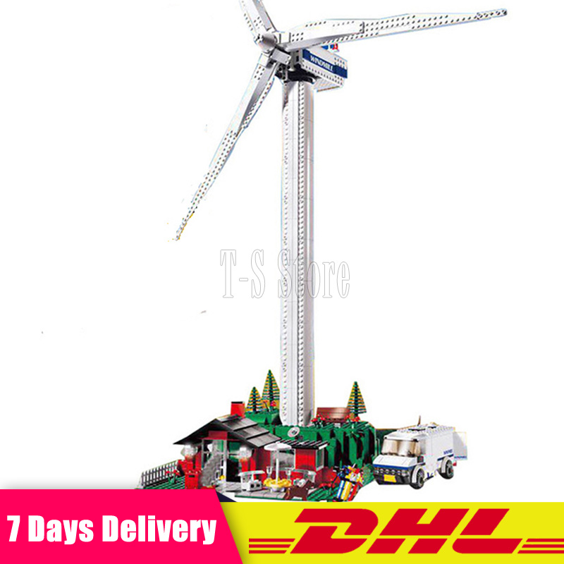 873Pcs Lepin 37001 Genuine Street Series Vestas Wind Turbine Children Building Blocks Bricks Toys Model Gifts 4999 lepin 37001 creative series the vestas windmill turbine set children educational building blocks bricks toys model for gift 4999