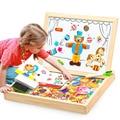 100 + Pcs Holz Multifunktions Kinder Tier Puzzle Schriftlich Magnetischen Tafel Lernen Bildung Spielzeug Für Kinder