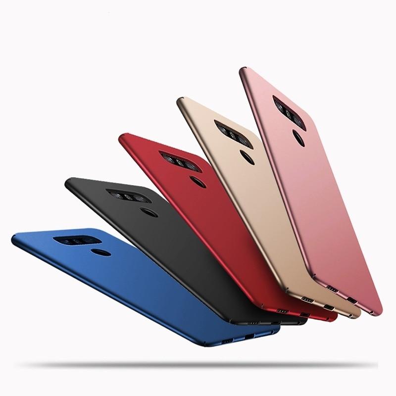 LG G6 Ultra İncə Tam Örtüklü Kauçuk Mat, Yumşaq Plastik Dəri Telefon Çantası LG H870 Lüks Arka Qapaq Funda Capa üçün