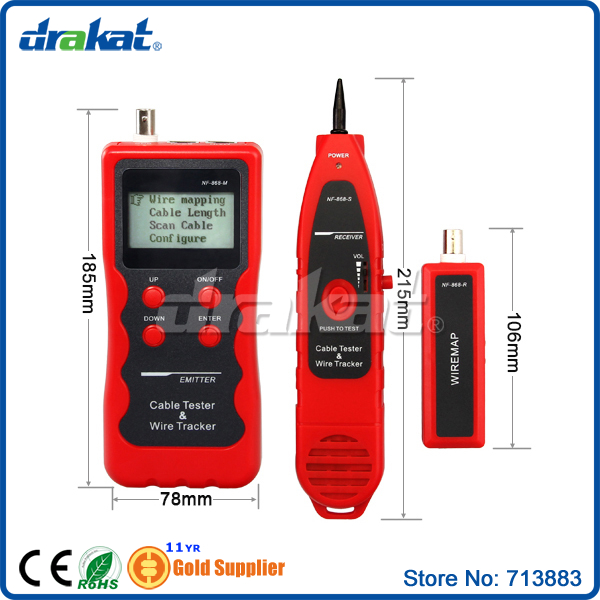 Cable Length Tester and Tracker for all network cable NF-868Cable Length Tester and Tracker for all network cable NF-868