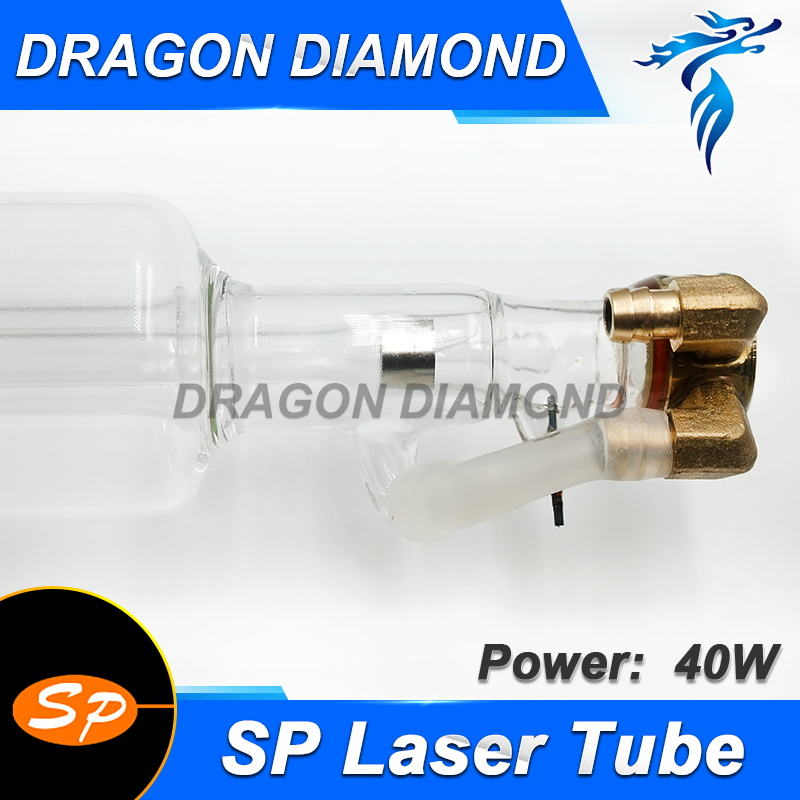CO2 Laser Tube SP-40W Metal Head Length 700mm Glass Pipe For CO2 Laser Engraving Cutting Machine lskcsh co2 laser tube 700mm 40w glass laser lamp for co2 laser stamp engraving cutting machine laser tube factory wholesale