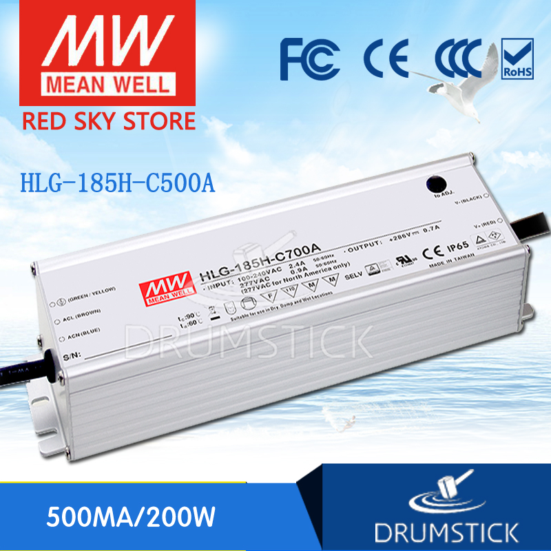 MEAN WELL HLG-185H-C500A 200V ~ 400V 500mA meanwell HLG-185H-C 200W LED Driver Power Supply A TypeMEAN WELL HLG-185H-C500A 200V ~ 400V 500mA meanwell HLG-185H-C 200W LED Driver Power Supply A Type