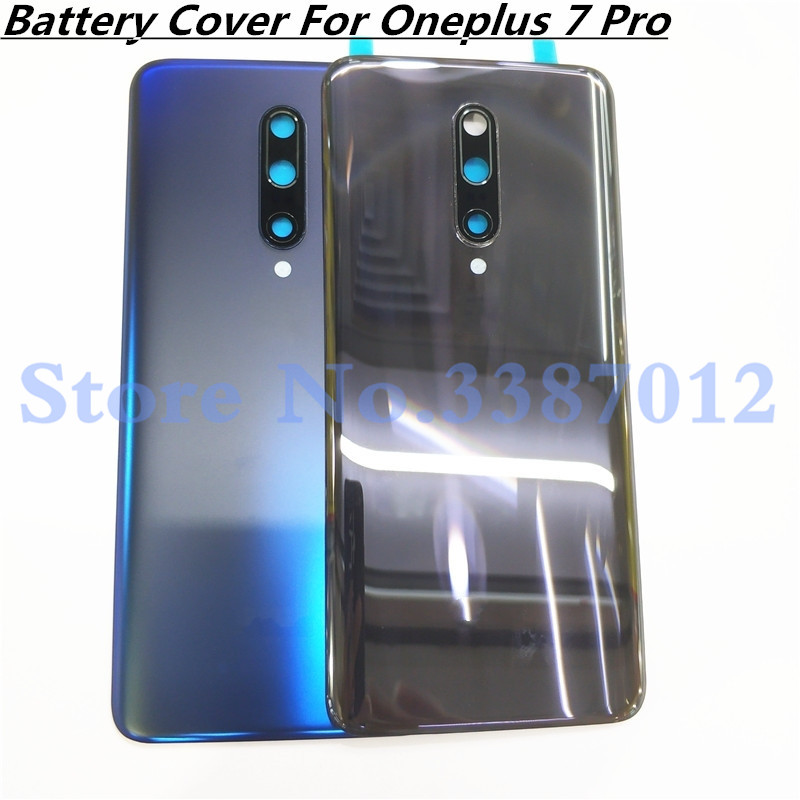 Original 3D Glass For Oneplus 7 Pro 7Pro Battery Door Back Cover Rear Housing Case Replacement Parts With Camera Lens