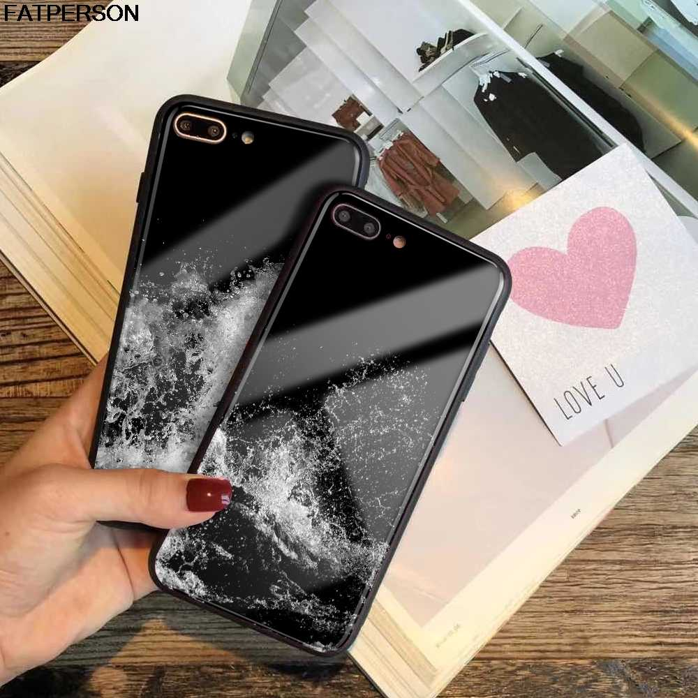newest e945f c187c Customized Kuso Broken Glass Phone Cover for iPhone X XR XS MAX case Spray  DIY Phone Case for iPhone 7 Plus 8 6s X 6 Plus