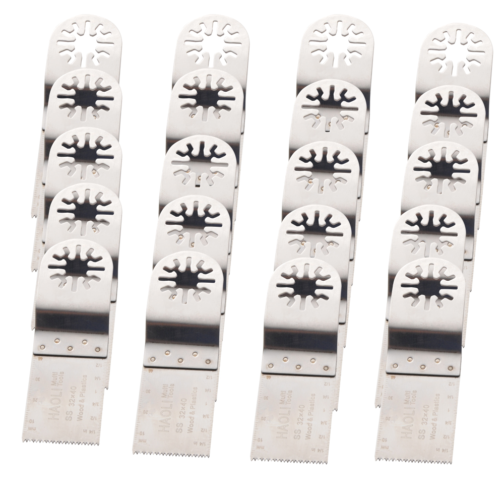 20 pcs/set  32mm SS Oscillating multi Tool Saw Blades Compatible with Fein Dremel Makita Milwaukee and more ,DIY at home