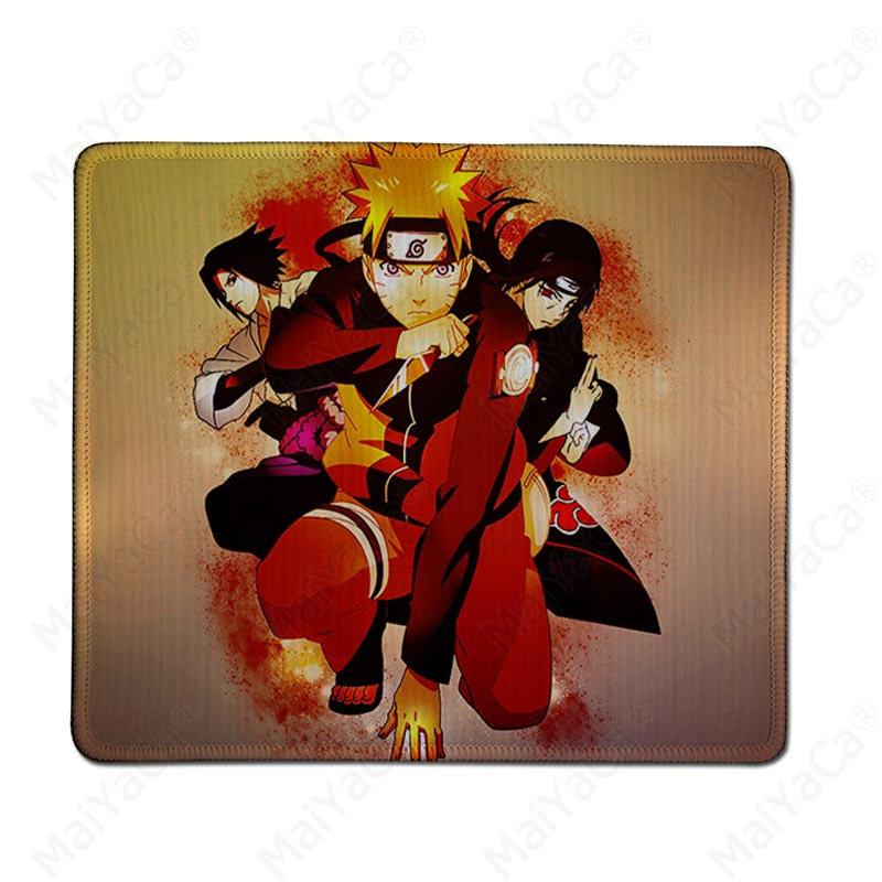 MaiYaCa Simple Design Naruto Natural Rubber Gaming mousepad Desk Mat Rubber PC Computer Gaming mousepad in Mouse Pads from Computer Office