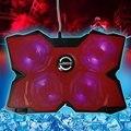 Coolcold gelo USB 2.0 quatro fãs Laptop PC Base de bloco de resfriamento do radiador refrigerador com suporte para Notebook Laptop fortalecer edição