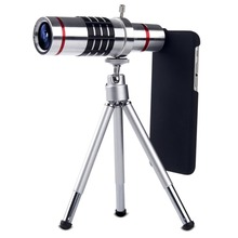 Big discount Cellphone 18x Camera Zoom Optical Mobile Phone Telescope Telephoto Lens 25mm Large Lens Dual Red Circles Portable Telescope