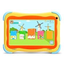 Yuntab amarillo Android5.1 Q91 Tablet PC de pantalla táctil de 7 pulgadas 1024X600 Iwawa Software Juegos Educativos 2100 mAh de la batería