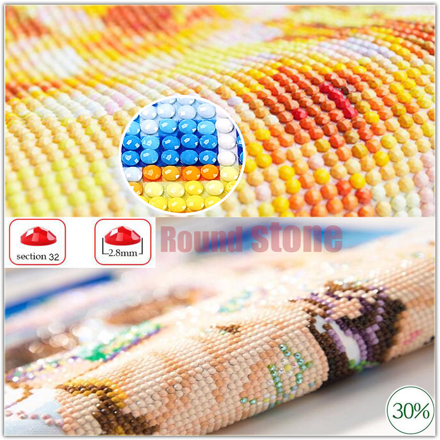 Diamond Painting Merry Christmas Santa Claus Gift Bell 5D DIY Mosaic Full Square round Drill Diamond Embroidery-2