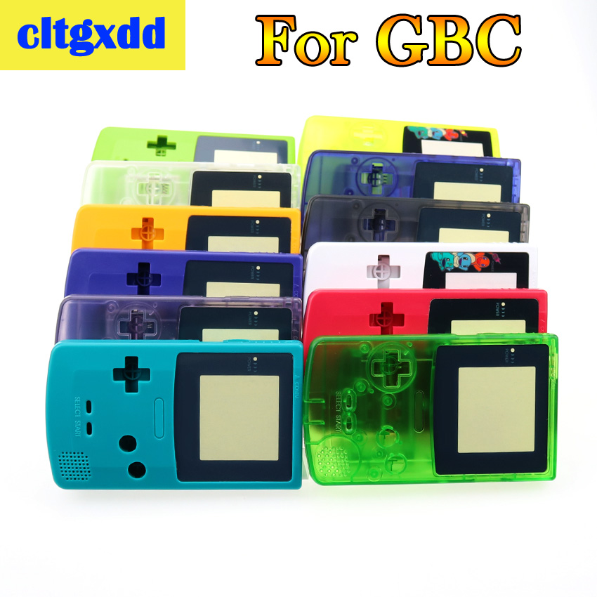 Cltgxdd Full Housing Shell Cover For Nintendo Gameboy Color GBC Repair Part Housing Shell Pack Game Machine Shell Accessories