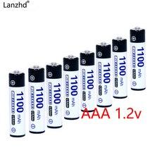 Аккумуляторная батарея AAA 1100mA Ni-MH аккумуляторы 1,2 В в фактической высокой емкости батареи ячейки для игрушечных фонариков камеры