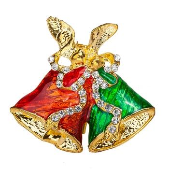 2016 nueva moda de Navidad campana o broche calidad ventas de la fábrica de joyas al por mayor El Envío Libre
