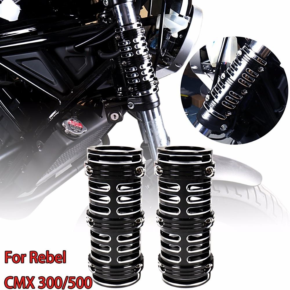 Left Right Shallow Cut Fork Boot Slider Cow Bells Cover For Honda Rebel CMX 300 500