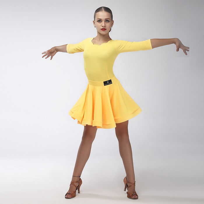 Picture of Kids Latin Dance Dress For Girls Modern Dance Costumes For Kids Latin Dress Girls Clothes For Dancing Rumba Salsa Top And Skirt