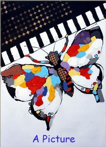 И Высококачественная ручная роспись настенная абстрактная картина маслом бабочка и фортепиано Современное украшение дома - Размер (дюймы): A Picture