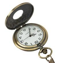 Vintage bronze punk steam quartz pocket watch necklace chain men's and women's pendants clock hollow watch chain watch gift