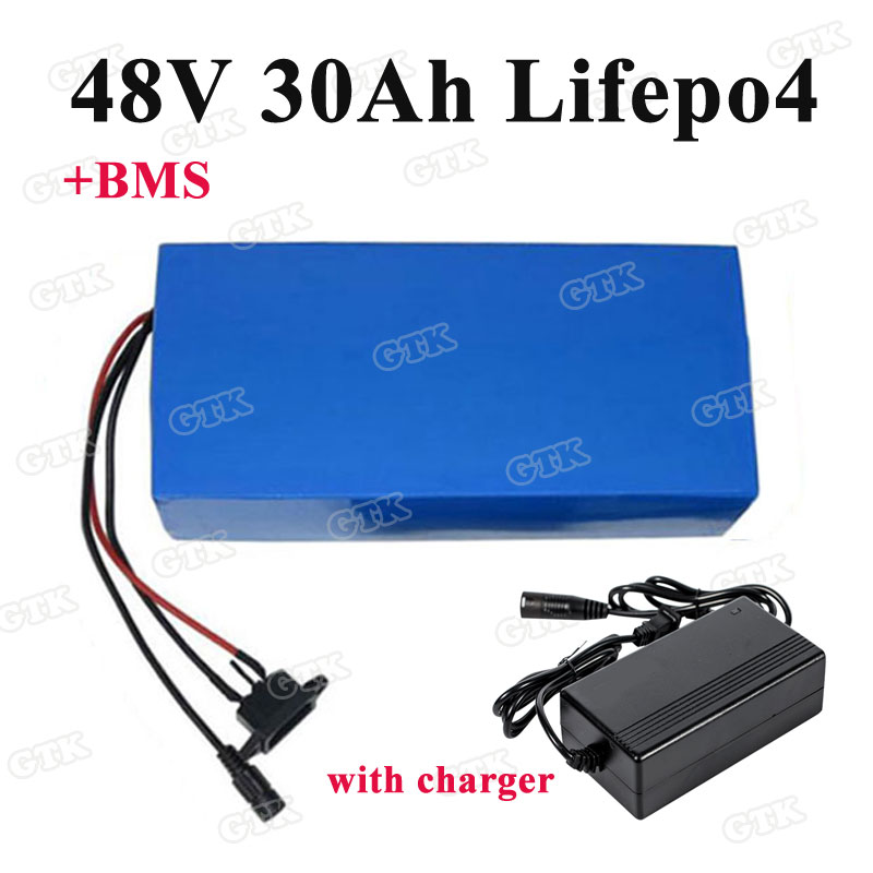 48v 28Ah LiFePO4 Battery Pack for Ebike Electric Bicycle Charger BMS 1000W