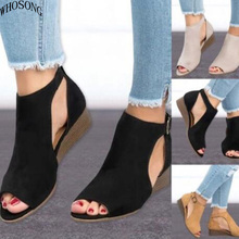 WHOSONG Summer Shoes Woman Platform Sandals Women Soft Leather Casual Peep Toe Gladiator Wedges Women Sandals zapatos mujer M43 summer women sandals casual peep toe genuine leather shoes lady platform wedges sandals shoes woman