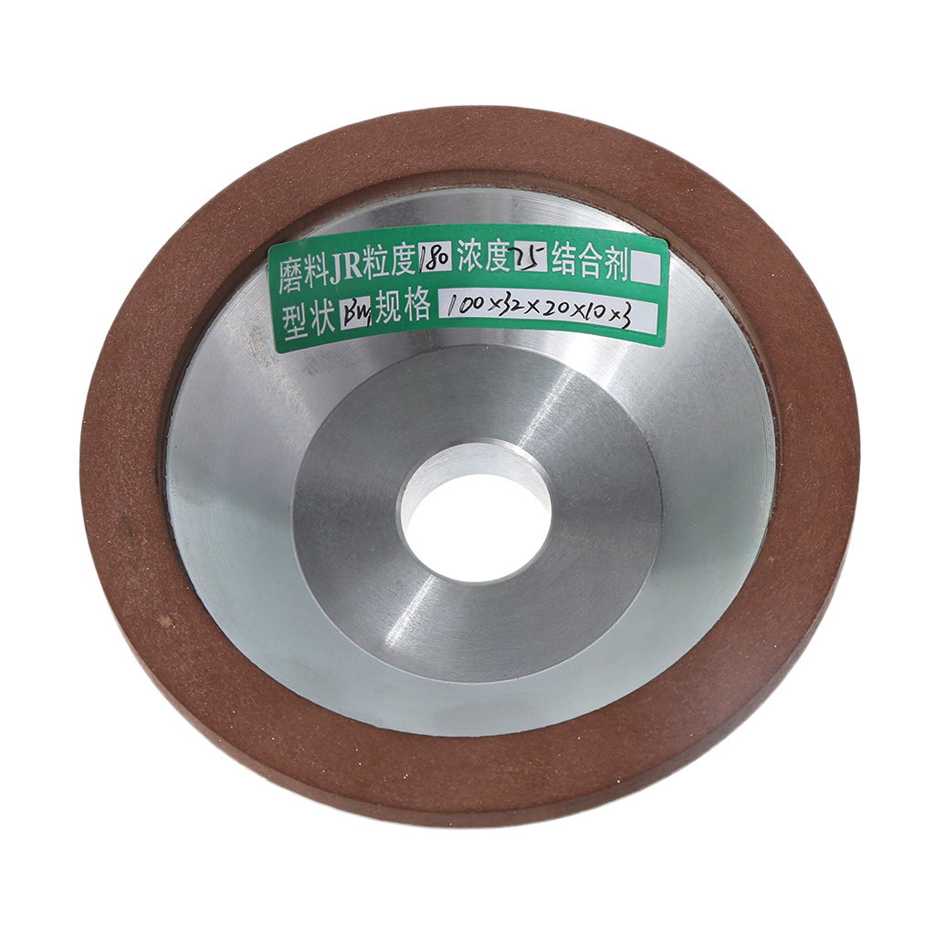100mm Diamond Grinding Wheel Cup 180 Grit Cutter Grinder For Carbide Metal diamond angle grinder wheel for glass ceramic grinding dia 100mm and 80mm hole 16mm abrasive pad 120 180 grit m007
