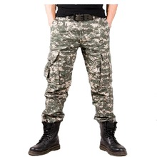 Mens Cargo Pant Baggy Casual Men Tactical Multi Pocket Military Overall Male Outdoors Long Trouser Army Camouflage JOGGER