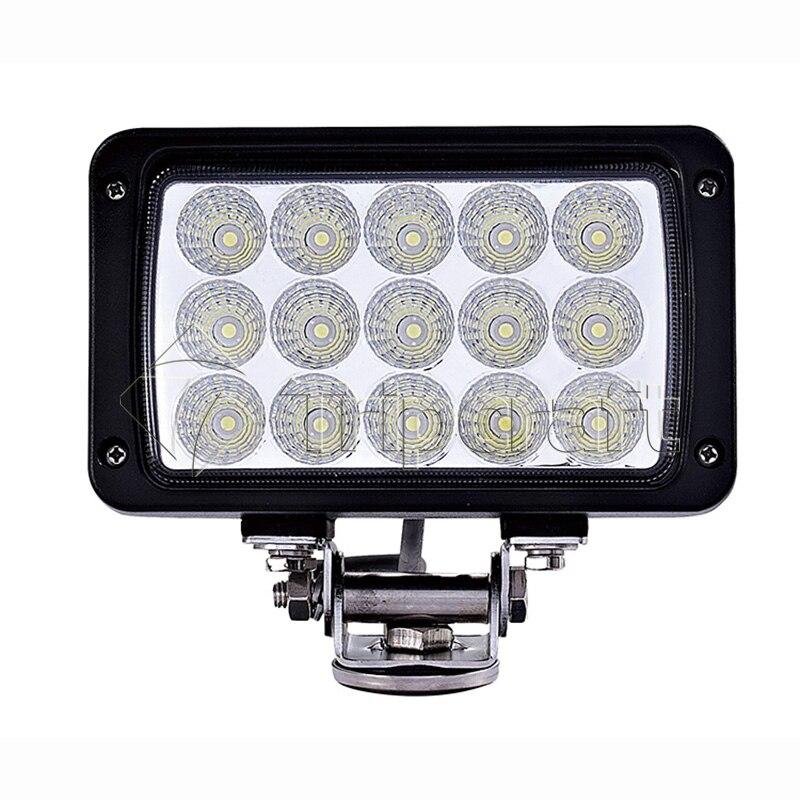 Hot Style Fog Lamp 45W Led Work Light For Car Auto SUV ATV Offroad 10V-30V Car Driving Light Spot Flood Beam Working Light bar