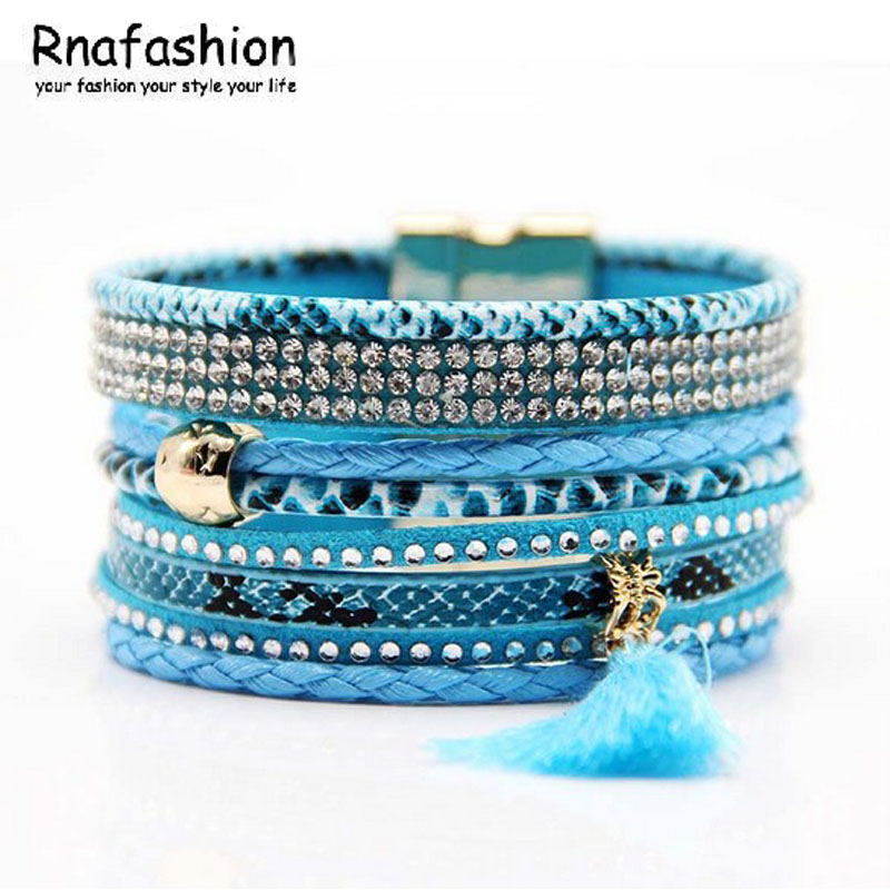 RNAFASHION Designer Fashion Bohemia Jewlery Indian style Colorful Multilayer Round Bracelets & Bangles For Women Girl