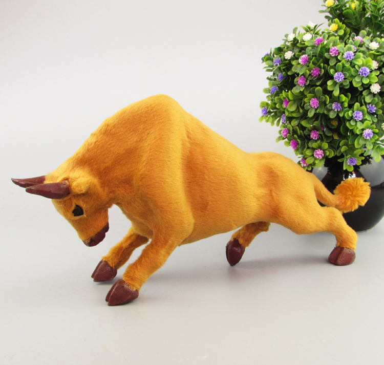 simulation cattle model toy large 31x9x16cm low head cattle craft toy home decoration toy gift a2101