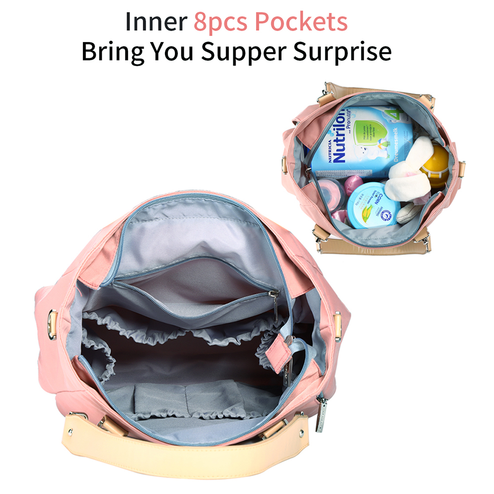 Stylish Baby Diaper Bags Candy colors Waterproof Maternity Mummy Nursing Shoulder Bags Nappy Bags Baby Stroller Bag Baby Care