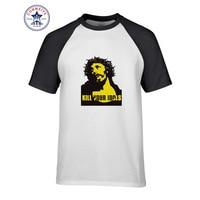 2017 Hot sprzedaż Mix Kolorów Mody Przypadkowi Guns N Roses ZABIĆ SWOJE IDOLS Jezus funny t shirt dla mężczyzn krótki rękaw