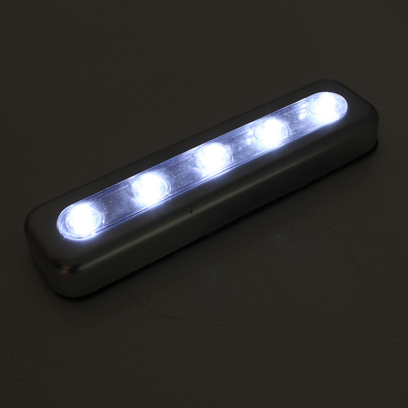 NEW BRIGHT 5 LED Bulbs PUSH LIGHTS STICK ON BATTERY KITCHEN SHED Lofts Camping LED Bar Lights Indoor Lighting P0.11