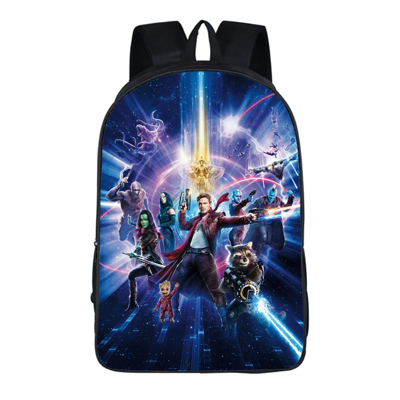 2017 New Guardians of the Galaxy Crute School Backpack For Teenagers Boys Girls School Bags Travel Bag Children School Backpacks
