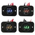 Brand New 12V-24V Waterproof Car Boat Marine Motorcycle LED Voltmeter Voltage Meter Gauge 4colors