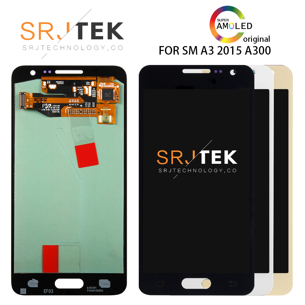 Warranty 4.5 Super AMOLED LCD for SAMSUNG Galaxy A3 2015 Display A300 A300H A300F A300FU Touch Screen Digitizer ReplacementWarranty 4.5 Super AMOLED LCD for SAMSUNG Galaxy A3 2015 Display A300 A300H A300F A300FU Touch Screen Digitizer Replacement