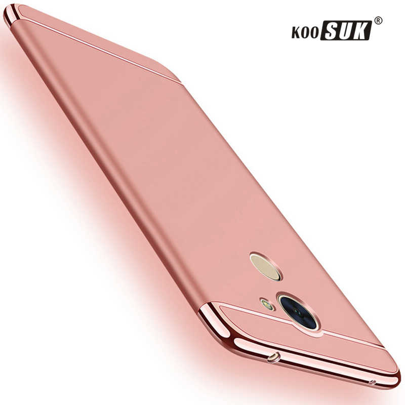 Huawei Honor 6C 6 C Pro Phone Hard Case For Huawei Honor 6c Pro / V9 Play Back Cover 3 in 1 Gold plated Protective Shell Fundas