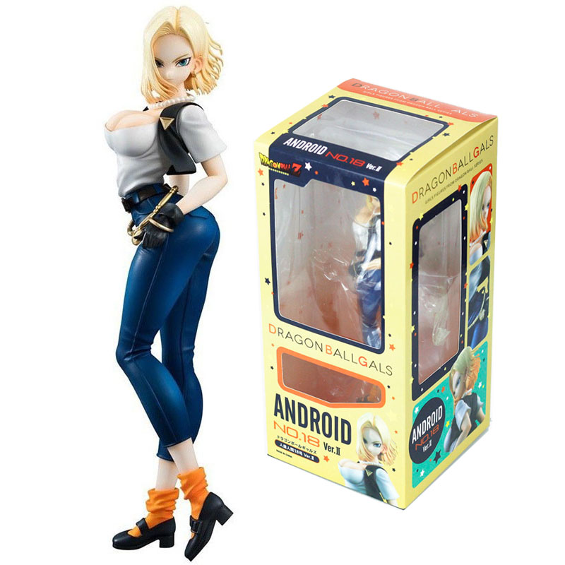 Anime Dragon Ball Z Android <font><b>18</b></font> Lazuli <font><b>Sexy</b></font> 20cm PVC New Figurine Toys Collection Action Figure For Christmas Gift image