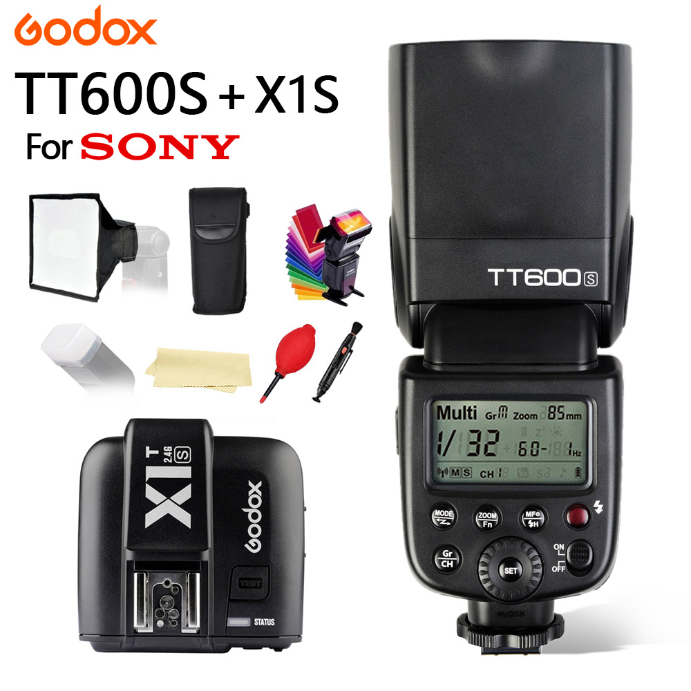 Godox TT600 TT600S Flash With GN60 2.4G Wireless TTL 1/8000s XSystem Flash Speedlite For Sony Camera + X1T-S Transmitter TriggerGodox TT600 TT600S Flash With GN60 2.4G Wireless TTL 1/8000s XSystem Flash Speedlite For Sony Camera + X1T-S Transmitter Trigger