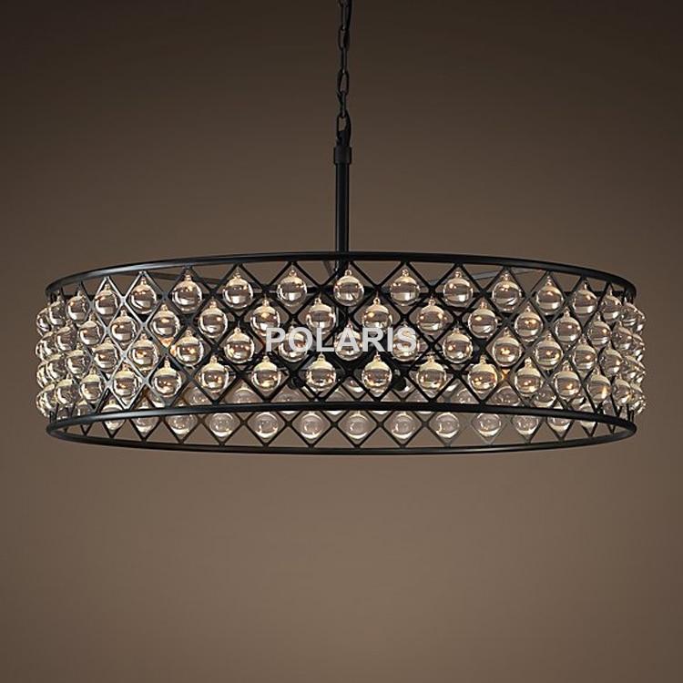 Luxusní Vintage křišťálový lustr osvětlení přívěsek závěsné světlo lustrové lampy pro domácí vily restaurace dekor