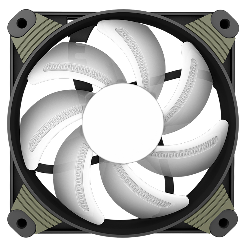 Aigo Icy X1 LED 120mm N.I.T. Fan Computer Cooling Fan Silent with LED Ring фен elchim 8th sense icy silver 03082 32