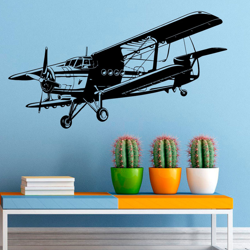 Military Aviation Airplane Wall Vinyl Decal Sticker Air Force Boys Room Wall Stickers Home Decor